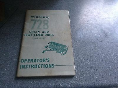 Business, Office & Industrial Agriculture/farming Purposeful Massey Ferguson 728 Grain And Fertilizer Drill Service Instuction Book