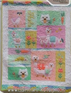 Lama-Rama-fun-applique-amp-pieced-quilt-PATTERN-Claire-Turpin