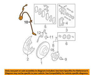 subaru oem 05 06 legacy abs anti lock brakes front speed sensor rh ebay com