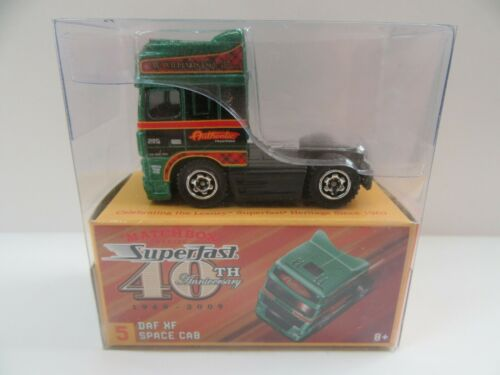 Matchbox Superfast 40th Anniversary No.5 DAF XF Space Cab Mint//Boxed