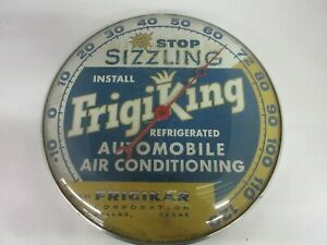 VINTAGE ADVERTISING FRIGIKING AUTO ROUND PAM THERMOMETER GARAGE STORE 227-P