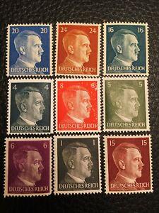 German Stamp Collection Set MNH - World War 2 Era Historical Stamp Set