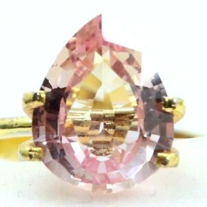 4.05 Ct Natural Padparadscha Sapphire Ceylon Pear Cut Certified Loose Gemstone