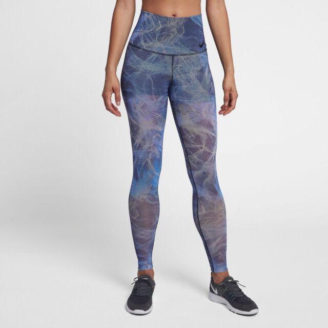 0d3d73eabbc3 Nike Women s Power Pocket Hyper Tight Fit Training Pants AH3909-415 Blue  Black