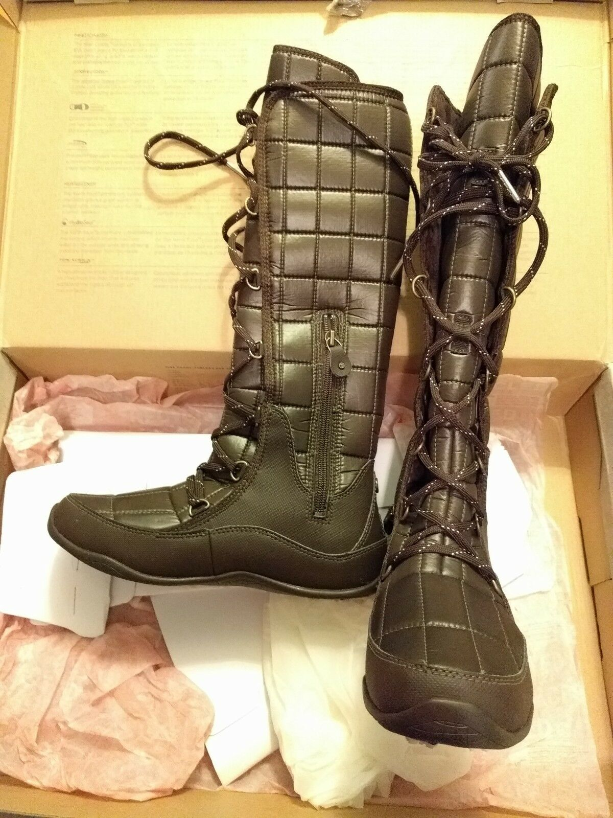 The North Face Marronee Insulated Waterproof Icepick Thermoball Knee high stivali 7.5