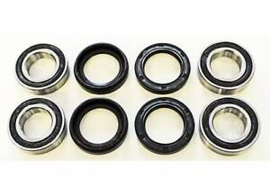Yamaha YFM350 350 Big Bear 4X4 Front Wheel Bearings and Seals X2