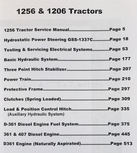 INTERNATIONAL FARMALL 1206 1256 DIESEL TRACTOR SERVICE REPAIR SHOP MANUAL
