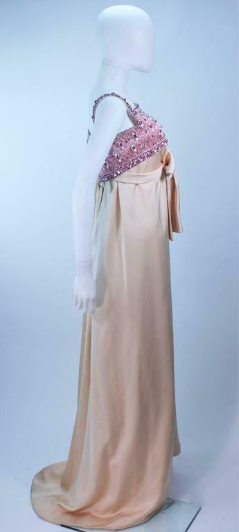GIVENCHY COUTURE Circa 1960s Nude Gown w/ Beaded … - image 7