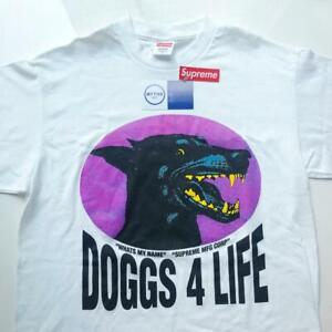 SUPREME-SS09-DOGGS-4-LIFE-TEE-WHITE-SHORT-SLEEVE-SIZE-M-MEDIUM-SHIPS-NOW