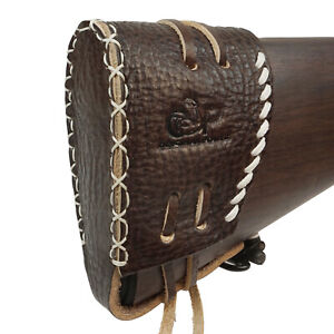 Real-Leather-Recoil-Pad-Slip-On-Rifle-Shotgun-Shooting-Hunting-Protection-Gear