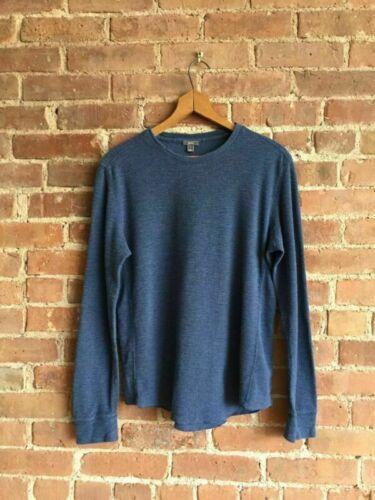 Vince Men's Thermal Shirt, Indigo, 100% Cotton Rib