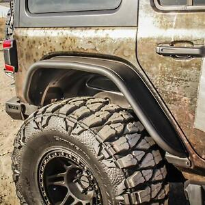 Fits 18 20 Wrangler Jl Westin Steel Rear Tube Fender Flares Black 2pc 62 1035 Ebay