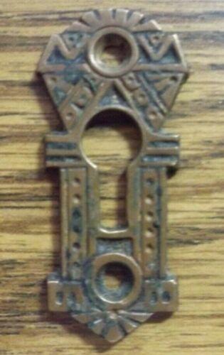 Vintage Ornate Small Brass//Bronze Cast Key Hole Escutcheon Cover