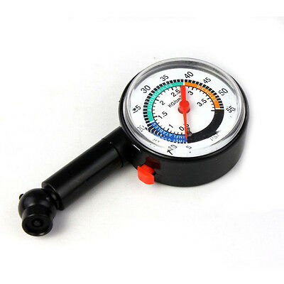 Auto Car Motor Bike Tire Air Pressure Gauge Dial Meter Vehicle Tester Measurer