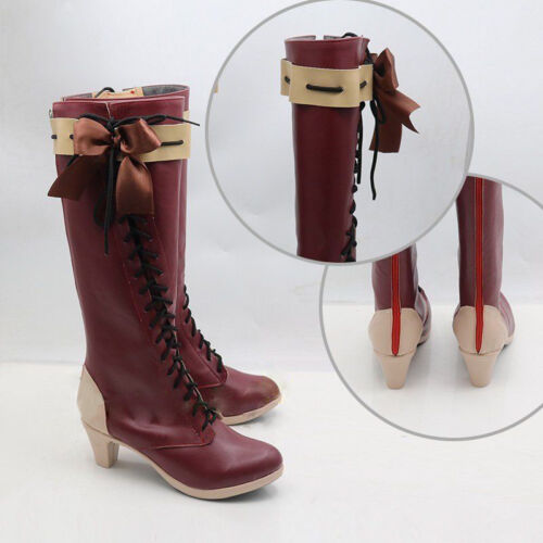 Violet Evergarden Violet Red Boots Shoes Cosplay Costume Custom-made Anime