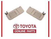 2007-2011 Toyota Camry Tan Sun Visor Set Right & Left With Vanity Light