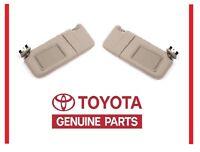 2007-2011 Toyota Camry Tan Sun Visor Set Right & Left With Vanity Light