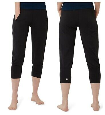 new sweaty betty garudasana crop yoga trousers s  ebay
