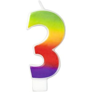 Wilton Number Age RAINBOW Candles Celebration Birthday Party Cake Decorations