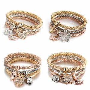 Women-Fashion-Jewelry-Rhinestone-Crystal-Bangle-Cuff-Bracelet-Gift-Party-Wedding