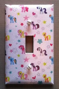 My Little Pony Light Switch Cover Plates Childrens Nursery