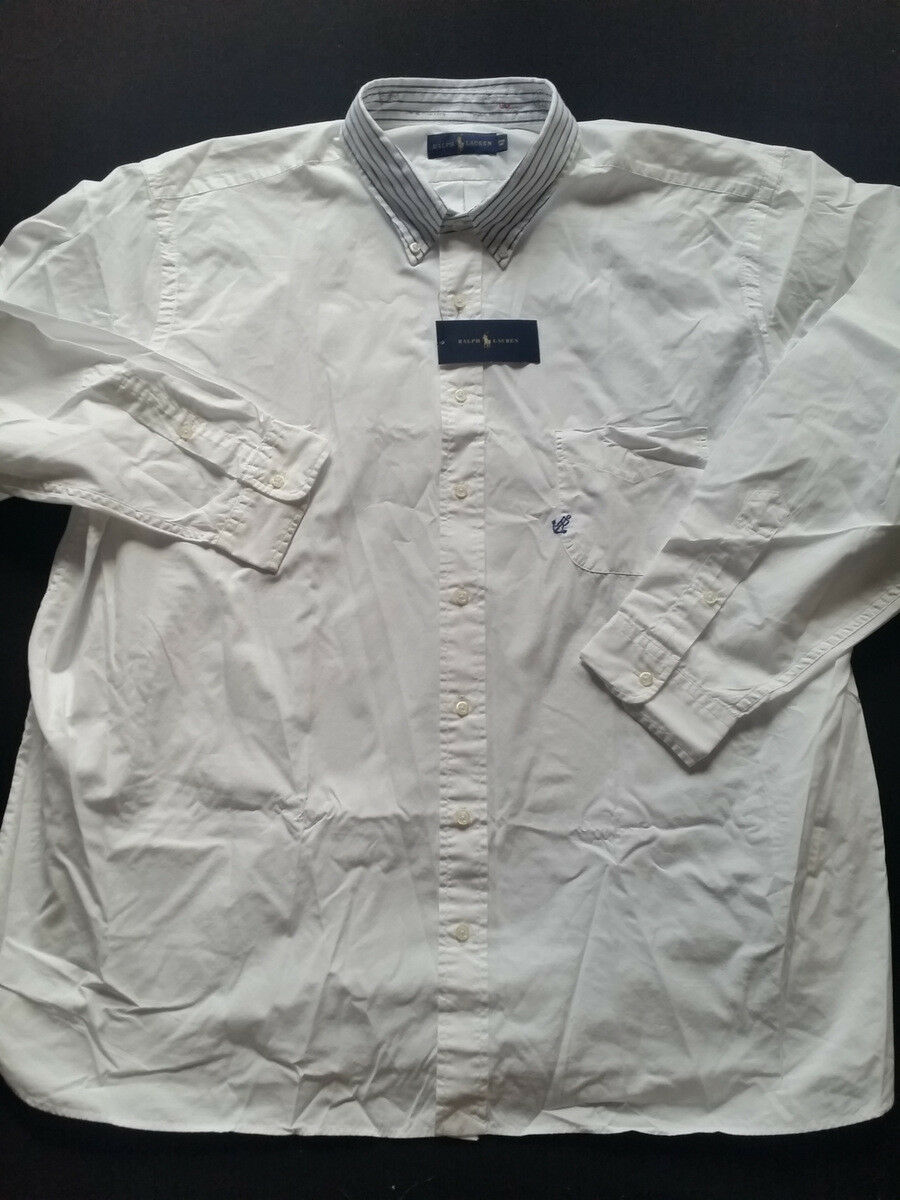 Ralph Lauren Big & Tall Shirt White Gr. 2xb 3xb New
