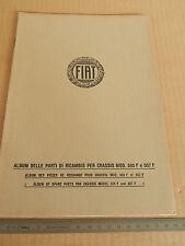 ALBUM PARTI DI RICAMBIO ORIGINALE 1927 CHASSIS FIAT 505F 507F 505 507