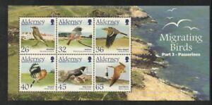 Alderney Sc 238a 2004 birds Passerines stamp sheet NH