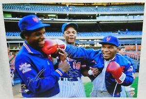 Mets-Doc-Gooden-Darryl-Strawberry-amp-Mike-Tyson-Signed-16x20-Photo-w-JSA-Cert