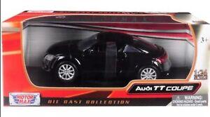 MOTORMAX 73340 AUDI TT COUPE 1//24 DIECAST MODEL CAR BLACK