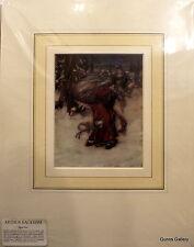 Print Reproduction Arthur Rackham mounted ready to frame Santa Claus