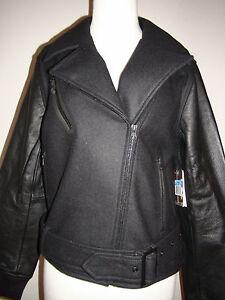 8abb0e601e59 Nike Moto Destroyer Women s Sz M Leather Biker Jacket 440671 010 ...