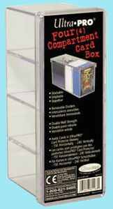 ULTRA-PRO-GAMING-CARD-BOX-4-compartment-NEW-150-240-clear-storage-case-2-piece
