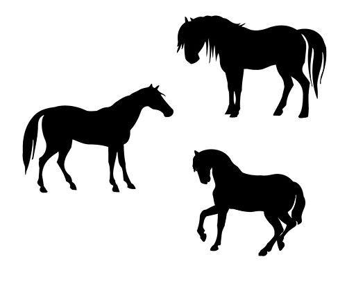3 Pferde Wandtattoo Aufkleber Sticker vers.FarbenGrößen
