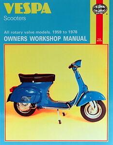 Haynes-Manual-0126-Vespa-Scooters-59-78-workshop-service-amp-repair