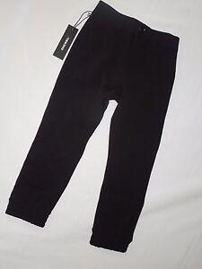 ca7780b2 Diesel boys Black Palku banded dress jogger Pants sz 4 retail $100 ...