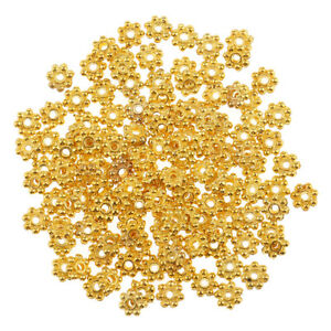 55ec50a1b Image is loading 100pcs-Wholesale-14k-Gold-Exquisite-Small-Snowflake-Spacer-
