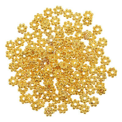 100pcs Wholesale 14k Gold Exquisite Small Snowflake Spacer Beads DIY Jewelry