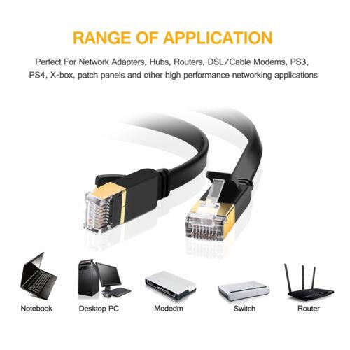 Short//Long External Network Ethernet Cable Cat5e Cat6 Cat7 RJ45 SSTP 10 Gigabit
