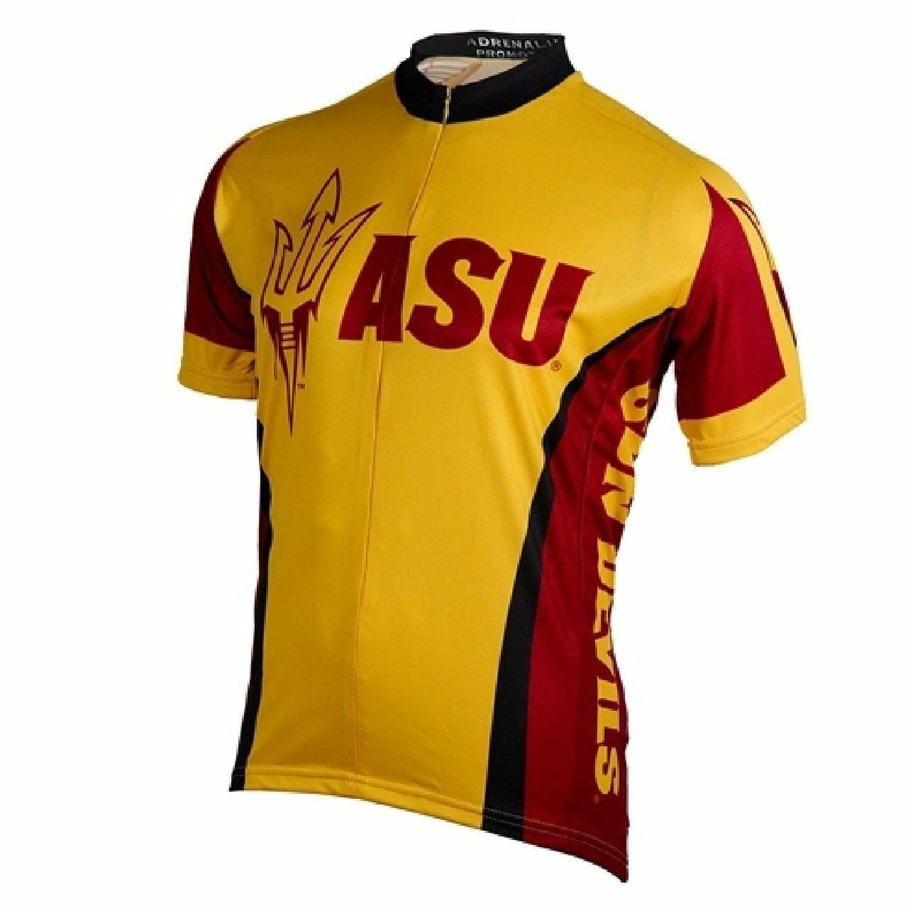 Arizona State University Sun Devils 3 4 zip Sie's Short Sleeve Radfahren Jersey