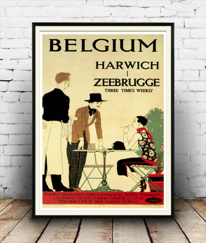 Belgium Old Travel Poster reproduction