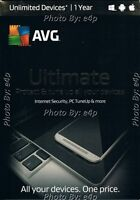 Avg Ultimate 2016 Unlimited Devices 1 Year Windows Mac Android Brand Sealed