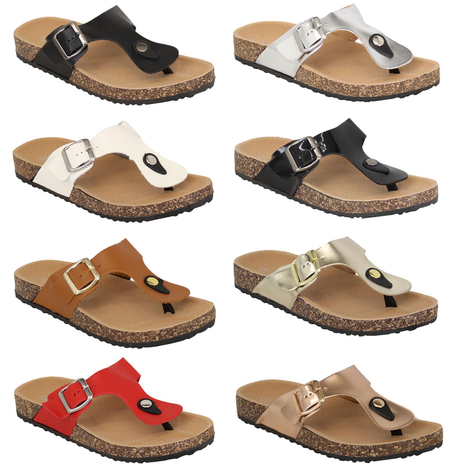 LADIES GIRLS  ELLA SANDALS Zapatos SLIP ONS Rojo  GIRLS NEW Talla 4 EU37 SALE cdb875