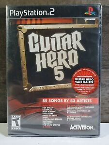 Guitar-Hero-5-Sony-PlayStation-2-PS2-BRAND-NEW-FACTORY-SEALED-RARE