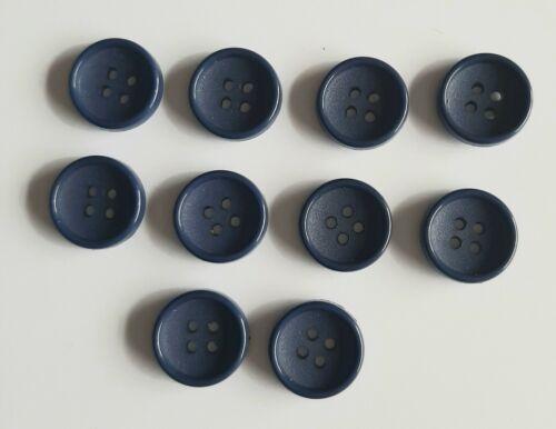 10 X 16mm ronda Azul Marino Botones-B0605