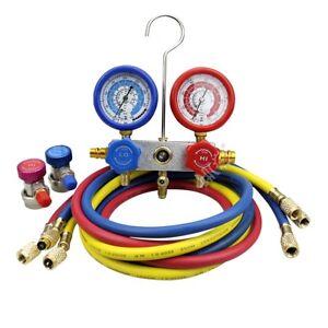 Details about 5 FT AC Diagnostic Manifold Freon Gauge Set for R22 R134a R12  R410A Refrigerants