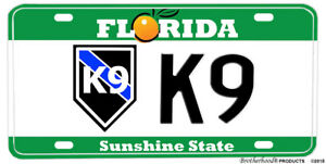 POLICE Florida Vanity Aluminum NOVELTY License Plate Law Enforcement