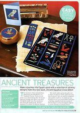 Ancient Treasures cruz puntada patrón de revista por Barbara Hammet