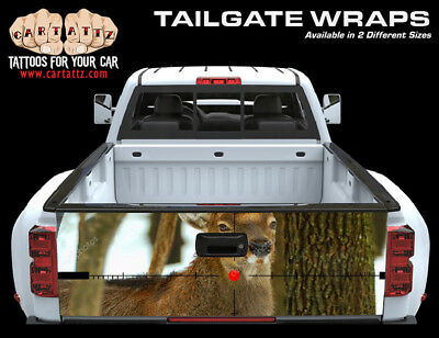 Deer hunting snow camouflage truck tailgate vinyl graphic decal wraps