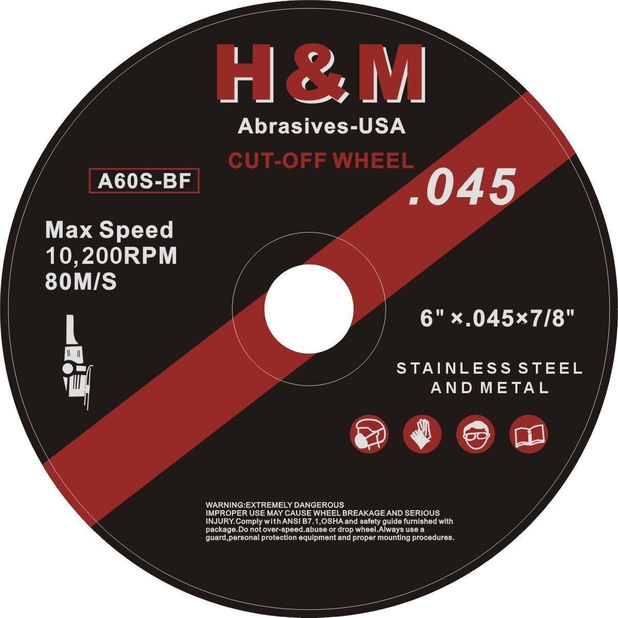 "Makita B-12675-10 9/"" x .075/"" x 7//8/"" INOX Thin Cut-Off Wheel 10//Pk 60 Grit"